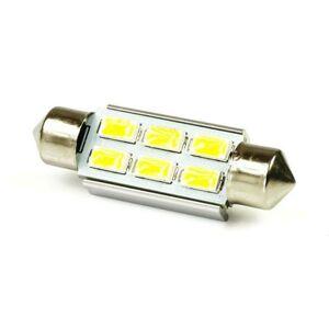 LED21 LED auto žárovka 12V LED C5W 6SMD5630 CAN BUS 42mm Teplá bílá